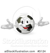 Vector Illustration of a Happy Soccer Ball Mascot by AtStockIllustration
