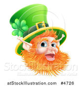Vector Illustration of a Happy St Patricks Day Leprechaun Wearing a Top Hat by AtStockIllustration