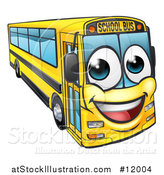 Vector Illustration of a Happy Yellow School Bus by AtStockIllustration