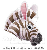Vector Illustration of a Happy Zebra Face Avatar by AtStockIllustration