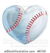 Vector Illustration of a Heart Baseball by AtStockIllustration