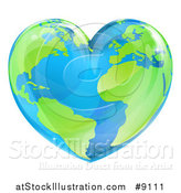 Vector Illustration of a Heart Earth by AtStockIllustration
