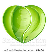 Vector Illustration of a Heart Made of Reflective Green Leaves by AtStockIllustration