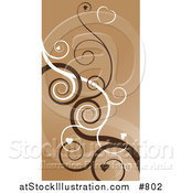 Vector Illustration of a Heart Swirls Abstract Background by AtStockIllustration