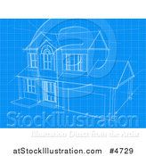 Vector Illustration of a House Blueprint Page by AtStockIllustration