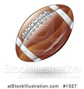 Vector Illustration of a Hovering American Football by AtStockIllustration