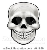 Vector Illustration of a Human Skull by AtStockIllustration