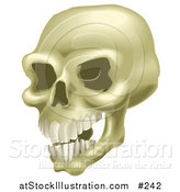Vector Illustration of a Human Skull with Teeth by AtStockIllustration