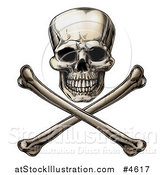 Vector Illustration of a Jolly Roger Skull and Crossbones by AtStockIllustration