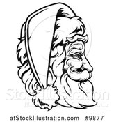 Vector Illustration of a Jolly Santa Claus Face by AtStockIllustration