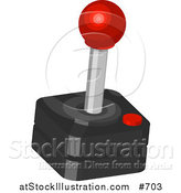 Vector Illustration of a Joystick for a Game by AtStockIllustration