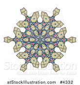 Vector Illustration of a Kaleidoscope Arabic Floral Pattern by AtStockIllustration