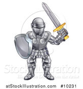 Vector Illustration of a Knight in a Suit of Armour by AtStockIllustration