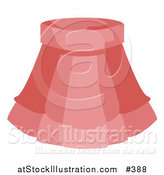 Vector Illustration of a Ladies Short Pink Skirt by AtStockIllustration