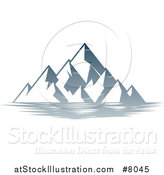 Vector Illustration of a Lake with Mountains Landscape by AtStockIllustration