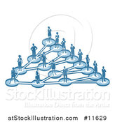 Vector Illustration of a Linking Diagram of Networked Business People by AtStockIllustration