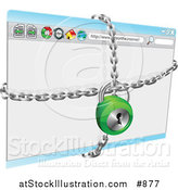 Vector Illustration of a Locked Secure Internet Browser by AtStockIllustration