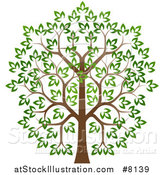 Vector Illustration of a Lush Tree with a Brown Trunk and Green Leaves by AtStockIllustration