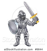 Vector Illustration of a Male Knight in a Suit of Armour by AtStockIllustration