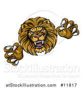 Vector Illustration of a Male Lion Attacking by AtStockIllustration