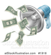 Vector Illustration of a Megaphone with Cash Money by AtStockIllustration
