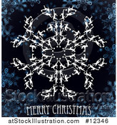 Vector Illustration of a Merry Christmas Greeting with Soccer Players Forming a Snowflake by AtStockIllustration