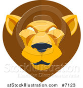 Vector Illustration of a Modern Flat Design Mal Lion Head by AtStockIllustration