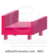 Vector Illustration of a Modern Pink Chair by AtStockIllustration