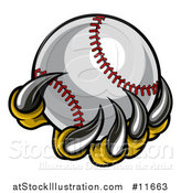 Vector Illustration of a Monster or Eagle Claws Holding a Baseball by AtStockIllustration