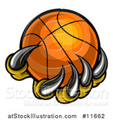 Vector Illustration of a Monster or Eagle Claws Holding a Basketball by AtStockIllustration