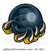Vector Illustration of a Monster or Eagle Claws Holding a Bowling Ball by AtStockIllustration