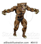Vector Illustration of a Muscular Vicious Bear by AtStockIllustration