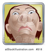 Vector Illustration of a Native American Indian Man from a Low View by AtStockIllustration