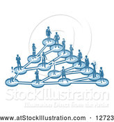 Vector Illustration of a Network of Parents and Occupational People in Blue by AtStockIllustration