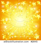 Vector Illustration of a Orange and Yellow Star Burst Background by AtStockIllustration