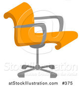 Vector Illustration of a Orange Desk Chair by AtStockIllustration