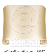 Vector Illustration of a Paper Scroll with Curled Edges by AtStockIllustration