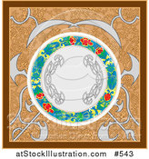 Vector Illustration of a Patterned Background with a Circular Center by AtStockIllustration