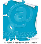 Vector Illustration of a Peeling Blue Paint Surface by AtStockIllustration