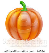 Vector Illustration of a Perfect Pumpkin and Reflection by AtStockIllustration