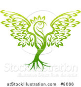 Vector Illustration of a Phoenix Bird Tree by AtStockIllustration