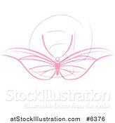 Vector Illustration of a Pink Butterfly with Wide Wings by AtStockIllustration