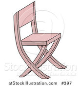 Vector Illustration of a Pink Chair by AtStockIllustration