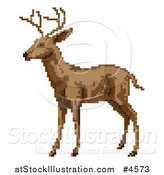 Vector Illustration of a Pixelated Reindeer or Buck by AtStockIllustration