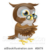 Vector Illustration of a Pointing Owl Wearing Spectacles by AtStockIllustration