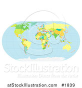 Vector Illustration of a Political World Map by AtStockIllustration