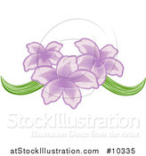 Vector Illustration of a Pretty Purple Orchid Flower Design by AtStockIllustration