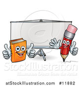 Vector Illustration of a Projector Screen by AtStockIllustration