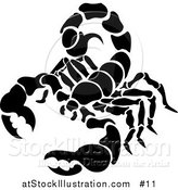 Vector Illustration of a Pure Black Scorpion: Scorpius of the Zodiac by AtStockIllustration
