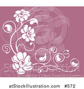 Vector Illustration of a Purple and White Floral Background by AtStockIllustration